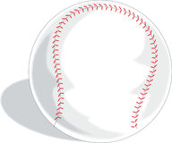 Baseball. A Single baseball on a white background Stock Images