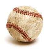 Baseball. An isolated shot of a well used baseball Stock Photography