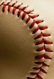 Baseball. Close up of baseball stitching Royalty Free Stock Photo