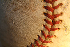 Baseball. A close up of a baseball Royalty Free Stock Image