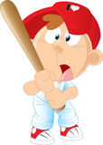 Baseball. Boy beats a baseball bat Stock Image