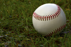 Baseball. Sitting on the grass Royalty Free Stock Photos