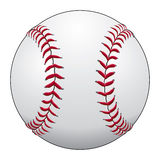 Baseball. Illustration of a baseball or softball in white leather with red stitches Royalty Free Stock Photos