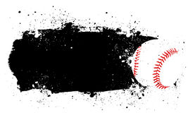 Baseball. Abstract Grunge Baseball Background with ball Royalty Free Stock Photos