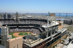 Baseball. San Diego's Petco Park, Coronado Bridge in the background stock photography