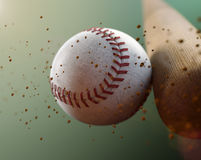 Baseball. Close up with a baseball srike