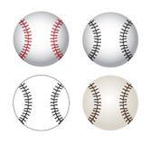 Baseball. Balls over white background  illustration Stock Image
