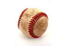 Baseball. Close up with red stitching Royalty Free Stock Photography