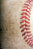 Baseball. Worn,dirty baseball isolated over a white background Royalty Free Stock Images