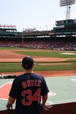 Baseball. Fan waiting for autographs at Fenway Park Royalty Free Stock Photography