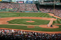 Baseball. A game at Boston's Fenway Park Stock Photo