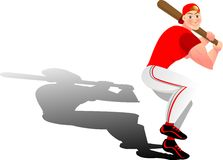 Baseball. Illustration, vector for a baseball player with shadow Royalty Free Stock Photography