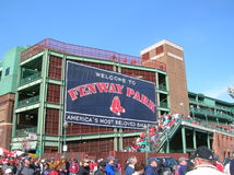 Baseball. People leaving Fenway Park after a baseball game Royalty Free Stock Photography