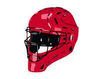 Baseball. Red helmet on transparent background Stock Images