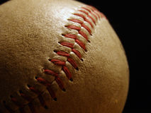 Baseball. Closeup of baseball seams Stock Images