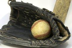 Baseball. In glove royalty free stock photo