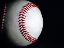 Baseball. Side-lit baseball Stock Images