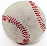 Baseball. A used baseball on a white background with cipping path included Stock Photos