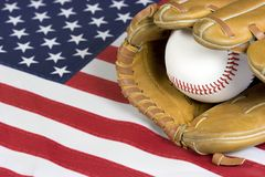 Baseball. Flag Stock Images