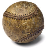 Baseball. Worn-out baseball on white Stock Photo