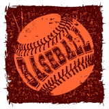 Baseball. Abstract vector illustration orange baseball ball on grunge background. Inscription baseball. Design for tattoo or print t-shirt vector illustration