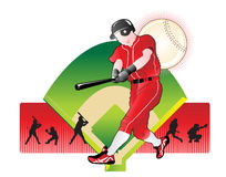 baseball abstrakcjonistyczna ilustracja ilustracji
