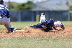 Free Baseball Action Image - Head First Slide Into Base Royalty Free Stock Photos - 32577828