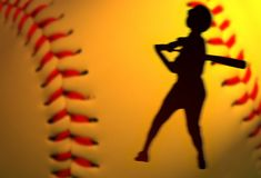 Baseball add. Abstract baseball competition add with left copy space Royalty Free Stock Images