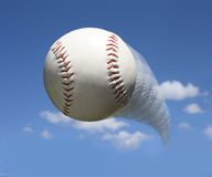 Baseball in air Royalty Free Stock Photos