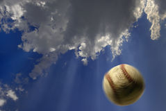 Baseball in air Stock Photography