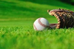Baseball all'aperto Immagini Stock