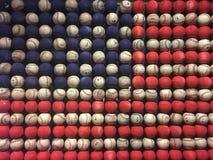 Baseball amerikan som äppelpajen arkivfoto