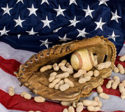 baseball amerykańska flaga Obrazy Stock