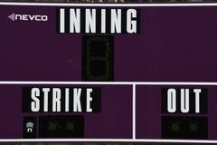 Baseball-Anzeigetafel stockfotografie