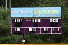 Baseball-Anzeigetafel stockbild