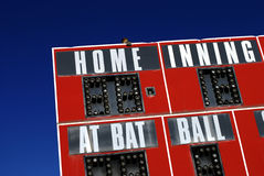 Baseball-Anzeigetafel-Sport lizenzfreie stockfotos