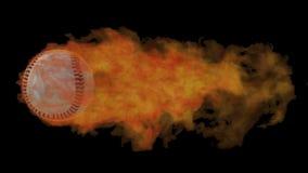 Baseball ardente