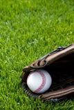 Baseball auf Feld Stockbilder