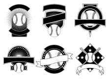 Baseball-Auslegung-Schablonen stock abbildung