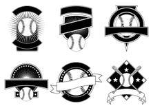 Baseball-Auslegung-Schablonen Stockbilder