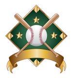 Baseball-Auslegung-Schablonen-Diamant stock abbildung