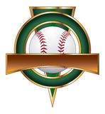 Baseball-Auslegung-Schablonen-Dreieck Stockbild