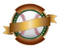 Baseball-Auslegung-Schablonen-Farbband vektor abbildung