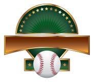 Baseball-Auslegung-Schablonen-Goldstern lizenzfreie abbildung