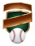 Baseball-Auslegung-Schablonen-Schild lizenzfreie abbildung