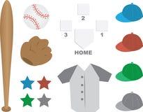 Baseball-Ausrüstung stock abbildung