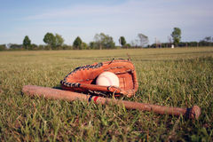 Baseball-Ausrüstung Lizenzfreie Stockbilder