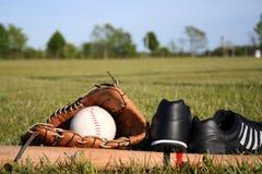 Baseball-Ausrüstung Stockbild