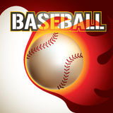 Baseball backgroun. Baseball background with stylized fire Royalty Free Stock Image