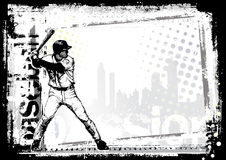 Baseball background Stock Image